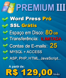 Plano Premium III - Hospedagem Windows