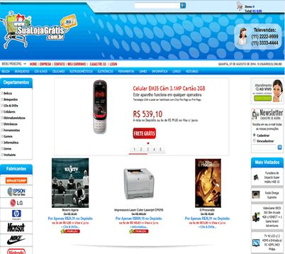 Loja Virtual Grátis - Monte sua Loja Virtual Grátis - Crie sua Loja ... d39084c13f081